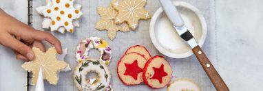 Para hornear en las Navidades: una galleta, tres estilos