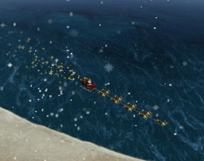 ¿Por dónde viene Santa Claus? Aplicaciones le muestran el recorrido de Papa Noel