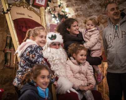 Un Santa Claus certificado en Jerusalén