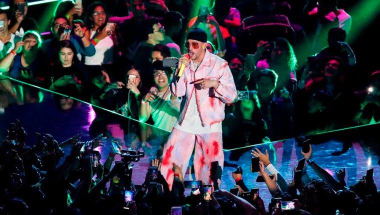 Bad Bunny es el artista más escuchado en Spotify. (Foto Prensa Libre: EFE)