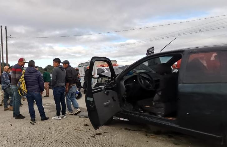 Accidente de tránsito deja cuatro heridos en Zaragoza y socorristas piden precaución en tramo peligroso