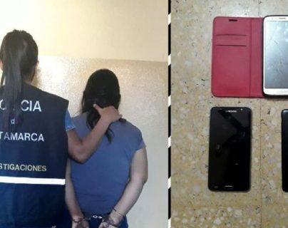 La mujer fue detenida durante un operativo el miércoles 2 de diciembre. (Foto Prensa Libre: Policía de Catamarca).