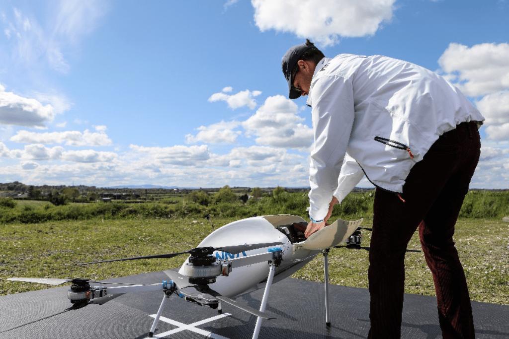 Manna implementó un sistema de entregas con drones.