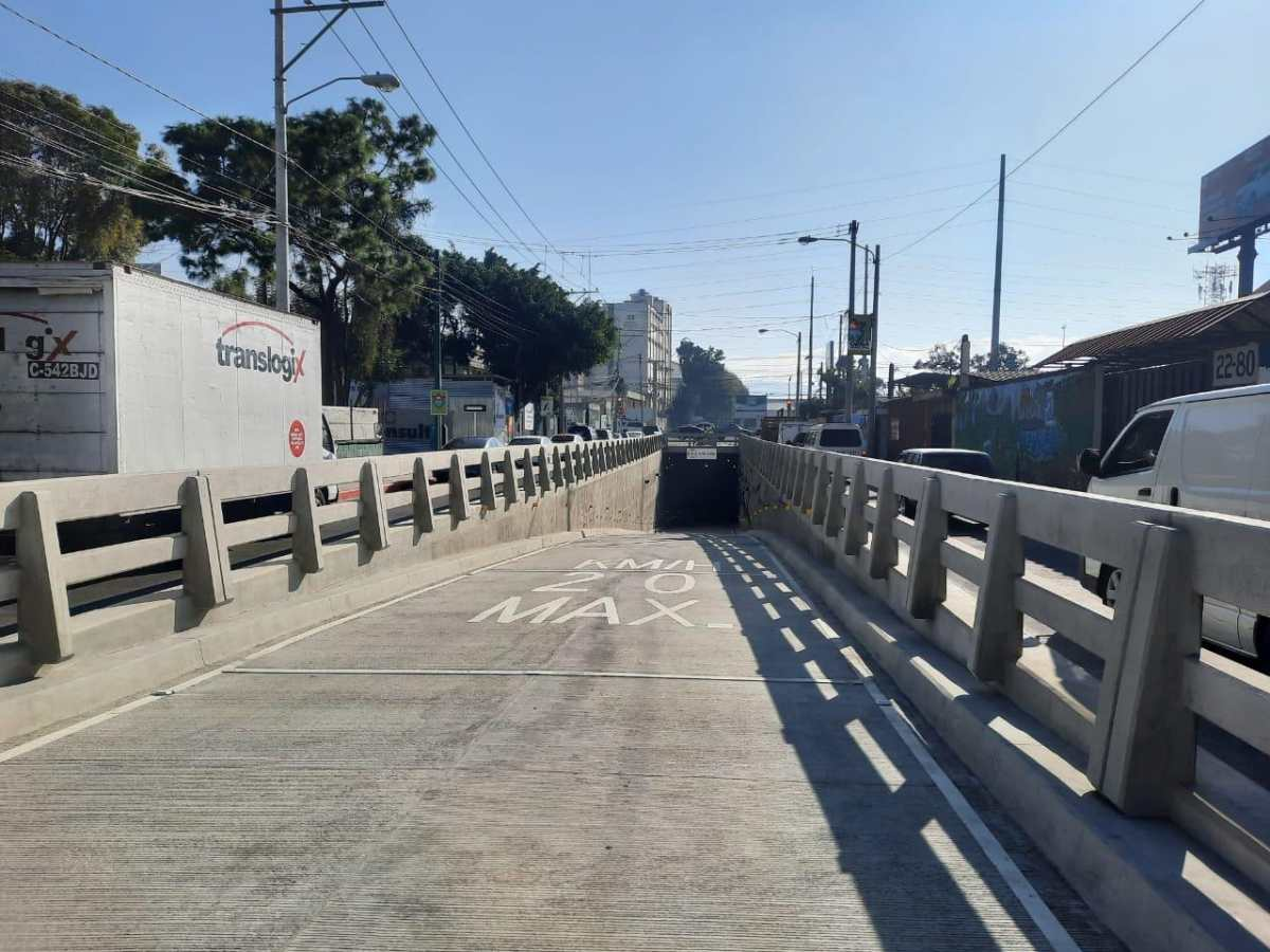 Queda habilitado el viaducto Santa Elisa, entre la Petapa y la Atanasio Tzul