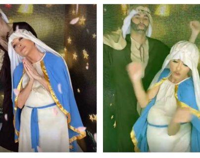 """¿Se burla de los católicos? Yuri baila en TikTok y usa """"disfraz"""" de Virgen María"""