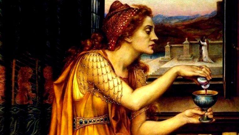 Esta imagen de la artista Evelyn De Morgan parece ilustrar la historia de Gulia Tofana, aunque en realidad su título es Poción de, algo que quizás también les habría servido a algunas de las mujeres que usaron Aqua Tofana.