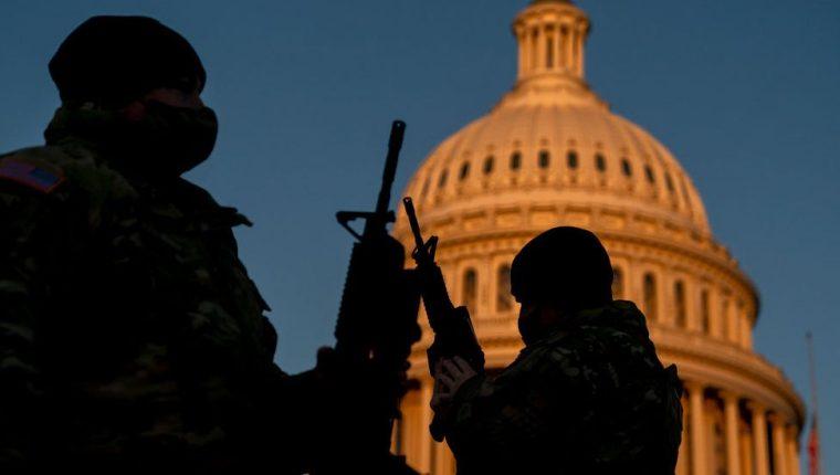 La Guardia Nacional, en máxima alerta de cara a la toma de posesión de Biden.