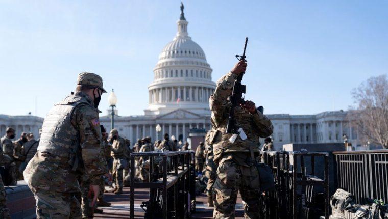 Las imágenes de Washington estos días previos a la investidura de Joe Biden son inéditas en la historia reciente del país.