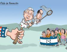 Personajes: Andrés Manuel López Obrador y Alejandro Giammattei.