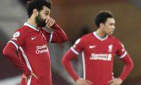Mohamed Salah durante el partido de este jueves, que terminó con derrota para el Liverpool. (Foto Prensa Libre: EFE)