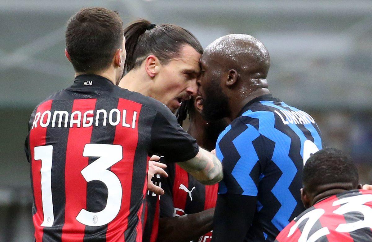 Qué se dijeron Romelu Lukaku y Zlatan Ibrahimovic durante su intenso enfrentamiento en la Copa de Italia