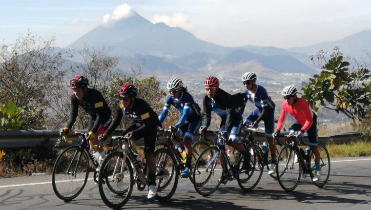 La Selección Nacional de Ciclismo llevó a cabo un campamento de preparación en Quetzaltenango. Foto Prensa Libre: Cortesía Omar Ochoa.