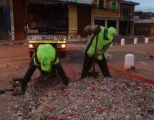 Toneladas de basura fueron recolectadas en todas las zonas de la capital. (Foto Prensa Libre: Municipalidad de Guatemala)