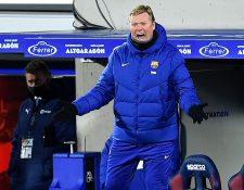 Ronald Koeman perdió su primera final dirigiendo al FC Barcelona. (Foto Prensa Libre: AFP)