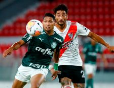 Rony del Palmeiras anotó uno de los tres goles con que le ganaron a River Plate. Foto Prensa Libre: AFP