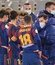 Messi de nuevo podría estar al margen de la convocatoria de Koeman para la Supercopa de España. El FC Barcelona enfrentará al Athletic en la final. (Foto Prensa Libre: AFP)