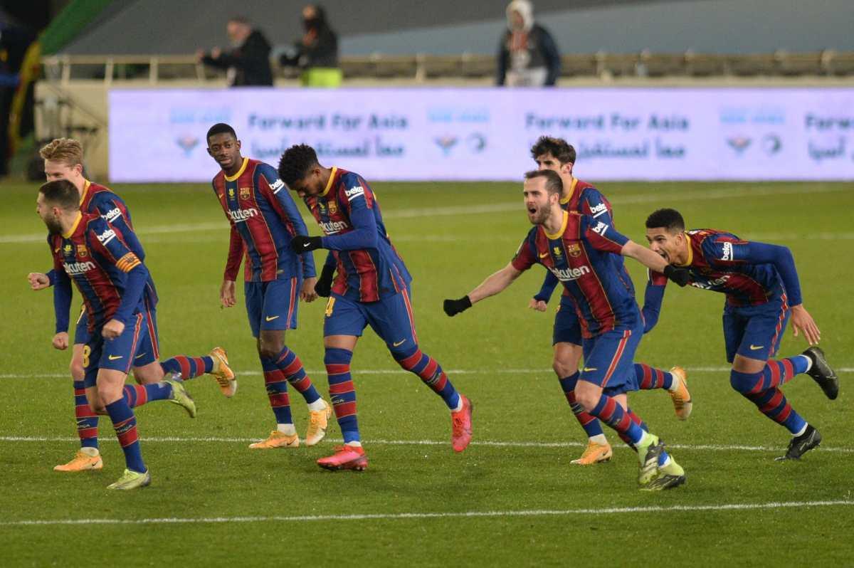 Sin Leo Messi el FC Barcelona se clasifica para la final de la Supercopa en los penaltis