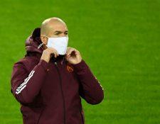 El técnico del Real Madrid, Zinedine Zidane, ha sido diagnosticado con coronavirus. (Foto Prensa Libre: AFP)