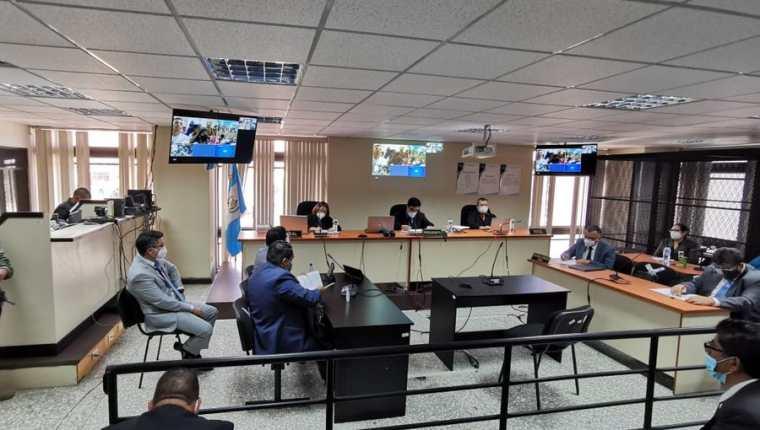 Sala donde se dicto condena contra 145 pandilleros por distintos delitos. (Foto Prensa Libre: MP)