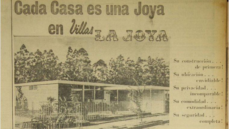 Hace 51 años para comprar una casa se hacía una inversión de aproximadamente Q108  mensuales. (Foto Prensa Libre: Hemeroteca PL).