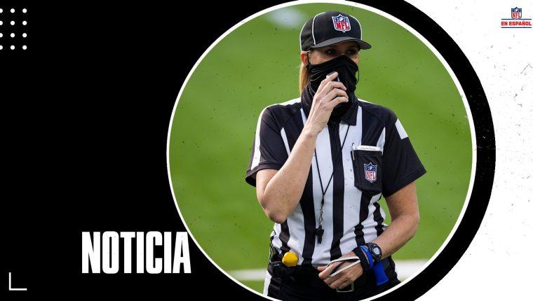 Sarah Thomas hará historia para las mujeres en el Super Bowl. (Foto Prensa Libre: NFL)