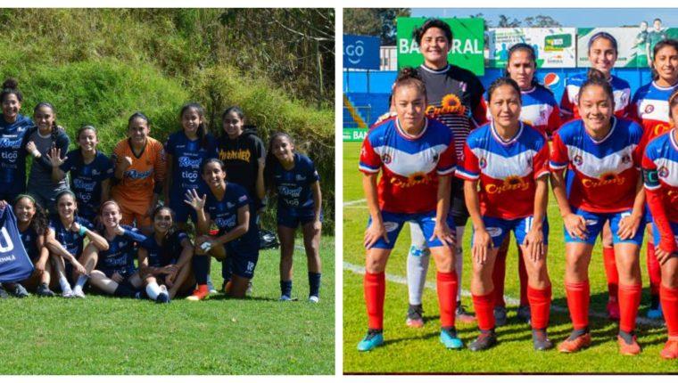 Unifut-Rosal vs Deportivo Xela se disputará este domingo 31 de enero en Mazatenango. (Foto Prensa Libre: Unifut y Deportivo Xela)