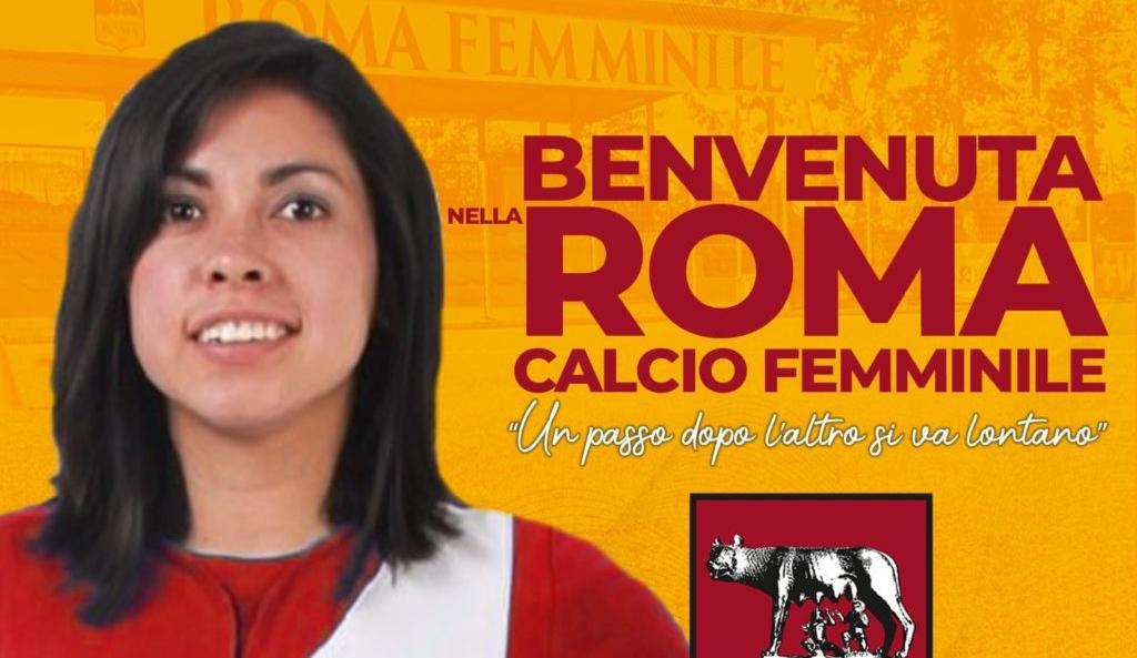 Ana Lucía Martínez fue convocada y podría debutar este domingo con el Roma Femenino