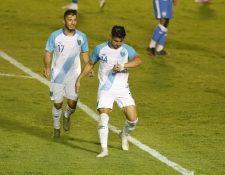 Darwin Lom anotó el gol de la victoria de Guatemala al minuto 66. Foto Prensa Libre: Esbin García.