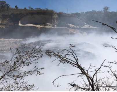 Vecinos temen por su salud a causa de incendio en vertedero a cargo de Amsa