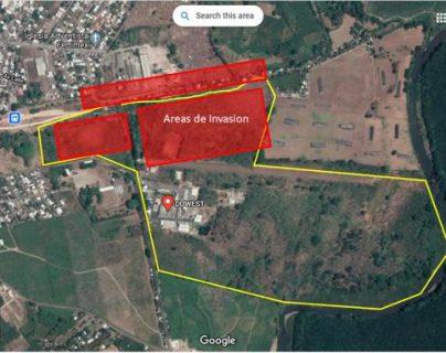 Denuncian invasión de fincas y área industrial en San Marcos