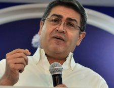 El presidente de Honduras, Juan Orlando Hernández, fue vinculado al narcotráfico por fiscales federales de EE. UU. (Foto Prensa Libre: AFP)
