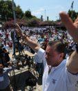 El rostro de UCN era su candidato presidencial Mario Estrada, condenado por delitos relacionados al narcotráfico.  (Foto HemerotecaPL)