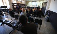 El Tribunal de Mayor Riesgo B suspende audiencia del Caso Los Huista es suspendido luego de que el Juez suplente fuera notificado de que su prueba de Covid saliera positiva.  foto Carlos Hern‡ndez 13/01/2021