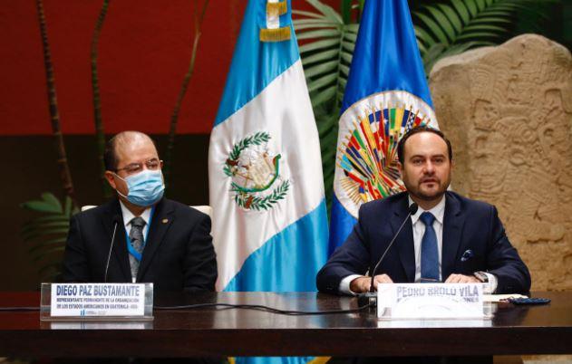 Autoridades informan de la misión de la OEA que estuvo en Guatemala en el 2020. (Foto Prensa Libre: Fernando Cabrera)