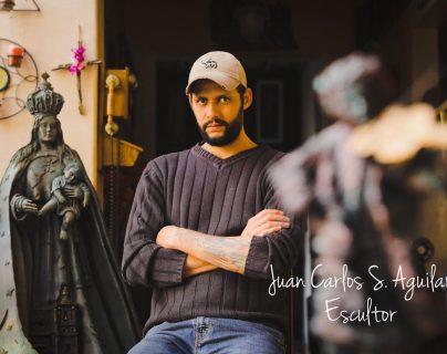 En su trayectoria de más de 30 años, Juan Carlos S. Aguilar, ha realizado cientos de obras para diferentes instituciones, iglesias y clientes privadas. (Foto Prensa Libre: cortesía Juan Carlos S. Aguilar).
