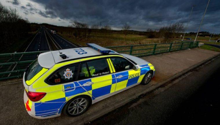 Unidad de la policía de Northumbria, Inglaterra. (Foto Prensa Libre: Policía de Northumbria)