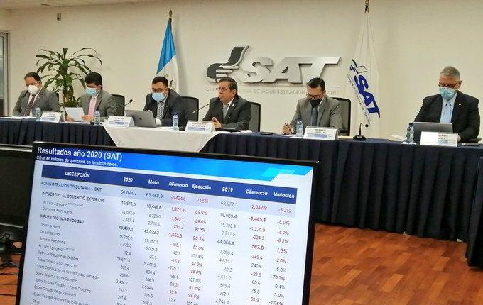 Marco Livio Díaz, jefe de la SAT, informó esta semana  los resultados de recaudación del período 2020. (Foto, Prensa Libre: SAT).