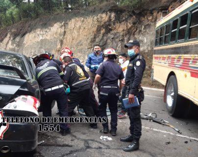 La persona fallecida no ha sido identificada hasta este momento. Fotografía: Bomberos Municipales Departamentales.