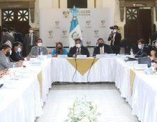 El presidente del Congreso, Allan Rodríguez, estima que el proceso de elección de CSJ y CC será de manera simultanea. Fotografía: Congreso.