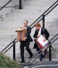 Este fin de semana empezaron a sacar las pertencias de la familia Trump. (Foto: AFP)