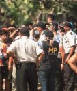 Una comitiva integrada por fiscales del MP, PNC y PGN fue atacada al ingresar a una de las fincas invadidas. (Foto Prensa Libre: Cortesía Adecpro)