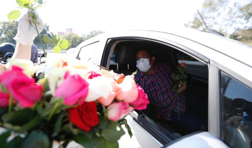 En abril del 2020 la Comisión de Plantas Ornamentales, Follajes y Flores de Agexport obsequiaron más de cinco mil tallos de flores debido a la cancelación de contratos. (Foto Prensa Libre: Hemeroteca)