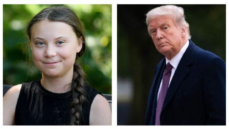 Greta Thunberg le envió un mensaje de despedida a Donald Trump. (Foto Prensa Libre: AFP)