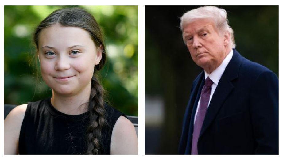 """El mensaje con que Greta Thunberg despide con ironía a Donald Trump: """"Parece un anciano muy feliz"""""""
