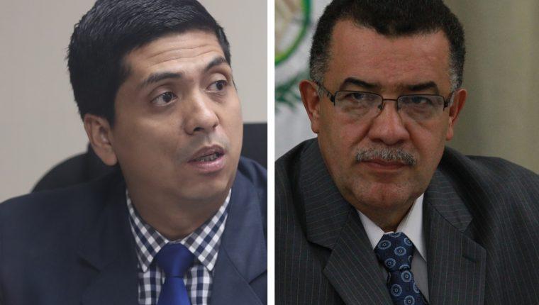 El juez Mynor Moto y el exrector de la Universidad de San Carlos Estuardo Galvez pasaron a segunda vuelta el pasado 4 de enero. (Foto: Hemeroteca PL)