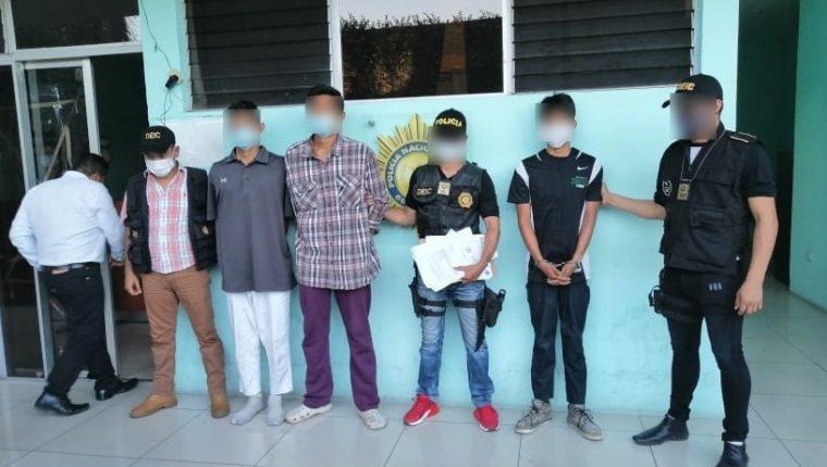 Los tres sujetos detenidos por el secuestro y muerte de Hillary Arredondo. (Foto: MP)