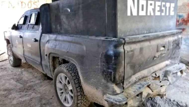 Uno de los vehículos que utiliza el Cartel del Noreste en México. (Foto Prensa Libre)