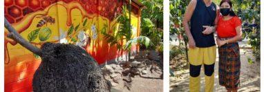 Ricardo Arjona visitó el Mundo de Abejas Mayas en San Juan La Laguna, Sololá. (Foto Prensa Libre: Cortesía)