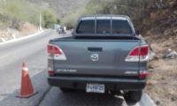 En este vehículo se conducían los dos agentes de la SAAS. (Foto: Wilder López)