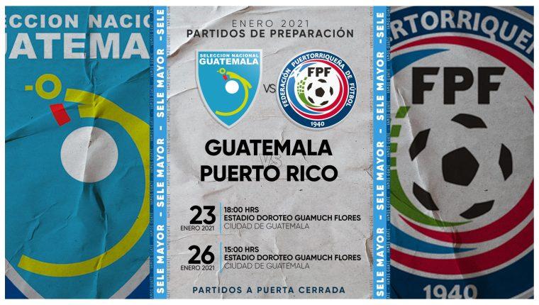 La Federación Nacional de Futbol oficializó los días y horarios de los dos juegos amistosos ante Puerto Rico.